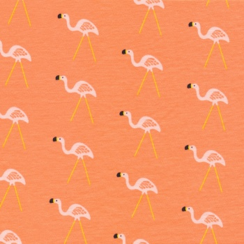 Cloud 9 Sidewalk - flamingos interlock KNIT