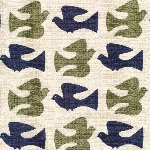 Cloud 9 ORGANIC Holding pattern BARKCLOTH on the fly in olive
