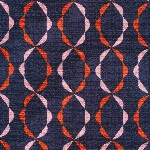 Cloud 9 ORGANIC Holding pattern BARKCLOTH twist of fate in red