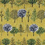 Hokkoh Japanese green forest on yellow