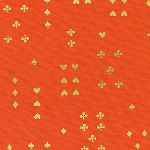Rifle Paper Co. wonderland follow suit orange metallic