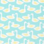 Cloud 9 FLANNEL ducks on blue - QUACK!
