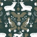 Dear Stella Folkwood - Animal damask - emerald