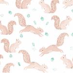 Dear Stella Pine Grove Squirrels on white