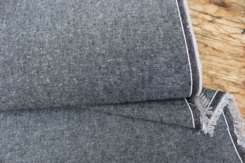 Robert Kaufman Essex  YARN DYED LINEN charcoal