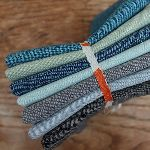 Mini Cloth stack Essex Yarn dyed linen in cool  tones