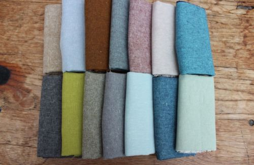 Pre cut selection of Essex Yarn dyed linens