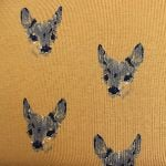 Dutch JERSEY fawns on yellow