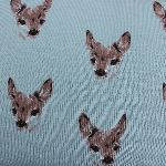 Dutch JERSEY fawns on blue