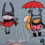 Dutch JERSEY critters in all weathers on blue