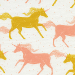 Sarah Watts Magic Forest -Unicorns in yellow