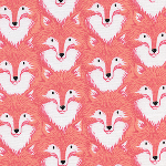 Sarah Watts Magic Forest -Foxes in coral