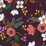 Rifle Paper Co.Menagerie birch in eggplant RAYON