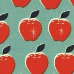 Melody Miller Picnic- apples on blue and red
