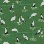 Sarah Watts - from Porto with love - storks on green