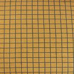 Dutch JERSEY Graphic squares on mustard