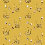 Jillian Philips Autumn Rain- Mustard Owl
