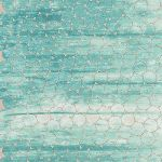 Jennifer Sampou Shimmer on - tile single border in ocean- pearlised