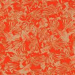 Carolyn Friedlander Gleaned- Lizard border in tangerine