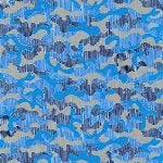 Carolyn Friedlander Gleaned- Camo in blueprint
