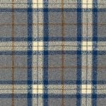 BOLT END - Robert Kaufman Mammoth Flannel - fishermans wool in blue