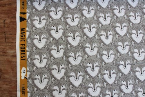 Sarah Watts Magic Forest -Foxes in grey