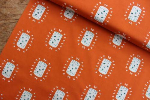 Art Gallery fabrics - Campsite - fireflies glow
