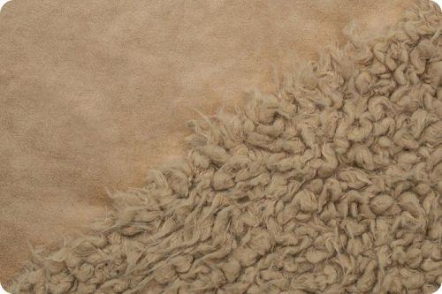 Shannon Fabrics Bonded Llama cuddle - sand / sand