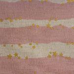 Kokka Japanese golden stars on stripes on pink