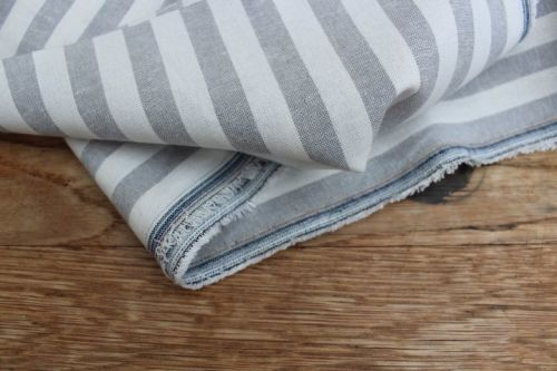 Robert Kaufman Essex YARN DYED classic wovens thick stripe steel