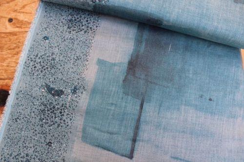 Nani Iro wild flower blue linen