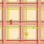 Heather Ross Sugarplum plaid on Cream