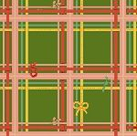 Heather Ross Sugarplum plaid on green
