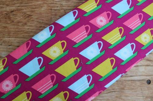 £9.00 YARD -Marie Perkins - cups on purple