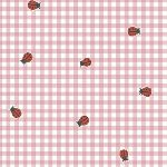 Carolyn Gavin BFF's ORGANIC ladybirds on gingham