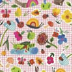Carolyn Gavin BFF's ORGANIC collaged creatures on gingham