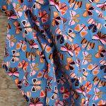Dashwood Studios Baby CORDUROY Fluttery butterflies on periwinkle