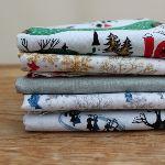 Mini Cloth stack Mid Century Christmas