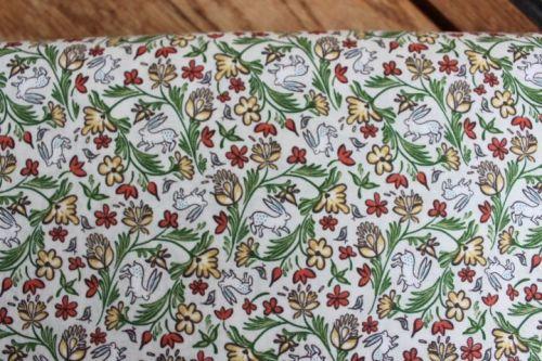 Freespirit fabrics Miss Mustard Seed - Bunnies, Birds & Blooms - Wild Hare