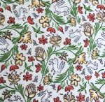 Freespirit fabrics Miss Mustard Seed - Bunnies, Birds & Blooms - Wild Hare -