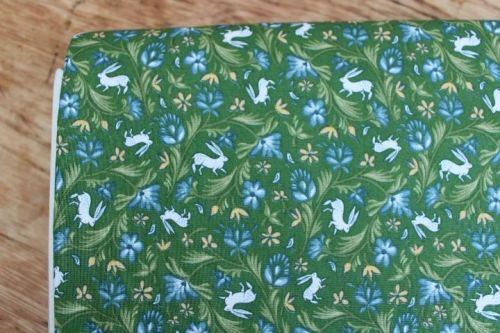 Freespirit fabrics Miss Mustard Seed - Bunnies, Birds & Blooms - Wild Hare