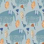 Victoria Johnson Painted Jungle Nellies on blue