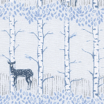 BOLT - END Cotton and Steel Frost, fawn forest in neutral