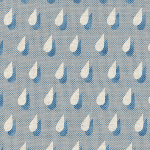 Cotton and Steel Panorama raindrops in blue