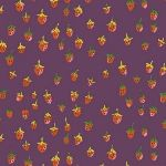 Heather Ross Trixie Field strawberries in plum