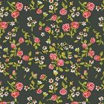 Heather Ross Trixie mousies floral in dark green
