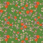 Heather Ross Trixie mousies floral in dark kelly
