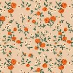 Heather Ross Trixie mousies floral in Peach