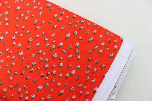 Heather Ross Trixie Field strawberries in orange