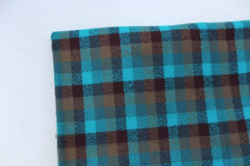 Robert Kaufman Mammoth Flannel -perfect check in surf
